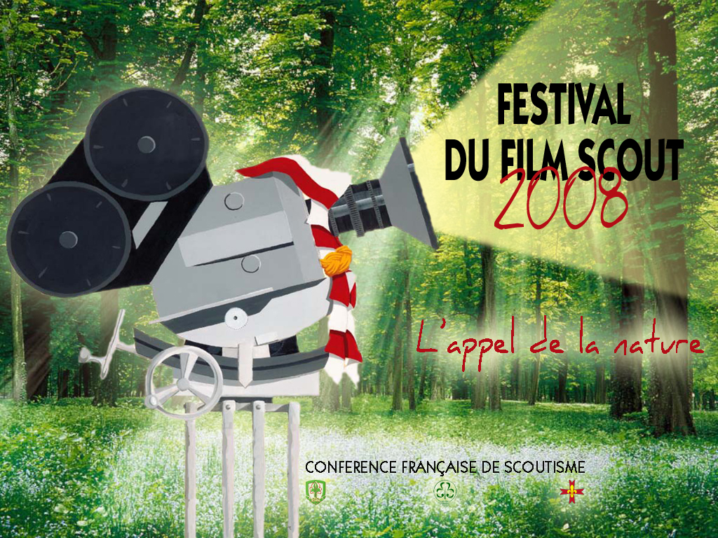 Affiche du 3ème Festival du Film Scout en 2008
